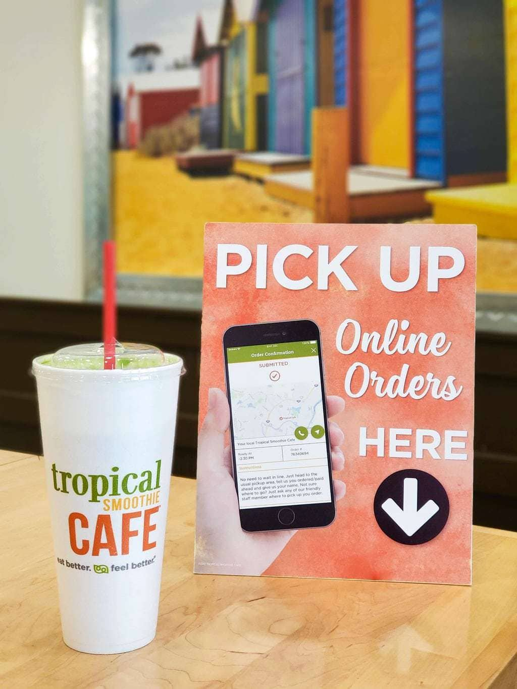 tropical smoothie cafe app for online orders