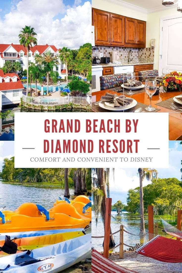 Looking for a condo or hotel near Disney that's perfectly priced with unparallel amenities? Grand Beach by Diamond Resort is the perfect place to stay for your next family vacation to Orlando, Florida. AD #OrlandoFlorida #FloridaVacations #CondosinOrlando