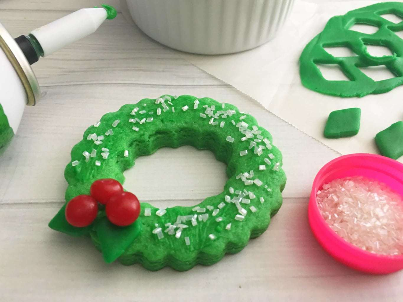 Christmas Wreath Cookies, Fondant Christmas cookies