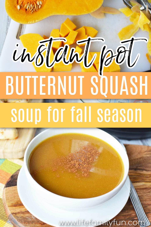 Instant Pot Butternut Squash Soup Pin for Pinterest
