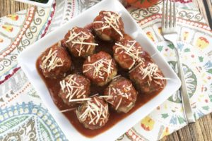 Keto Meatballs Made With Homemade Marinara Sauce – Low Carb Meal
