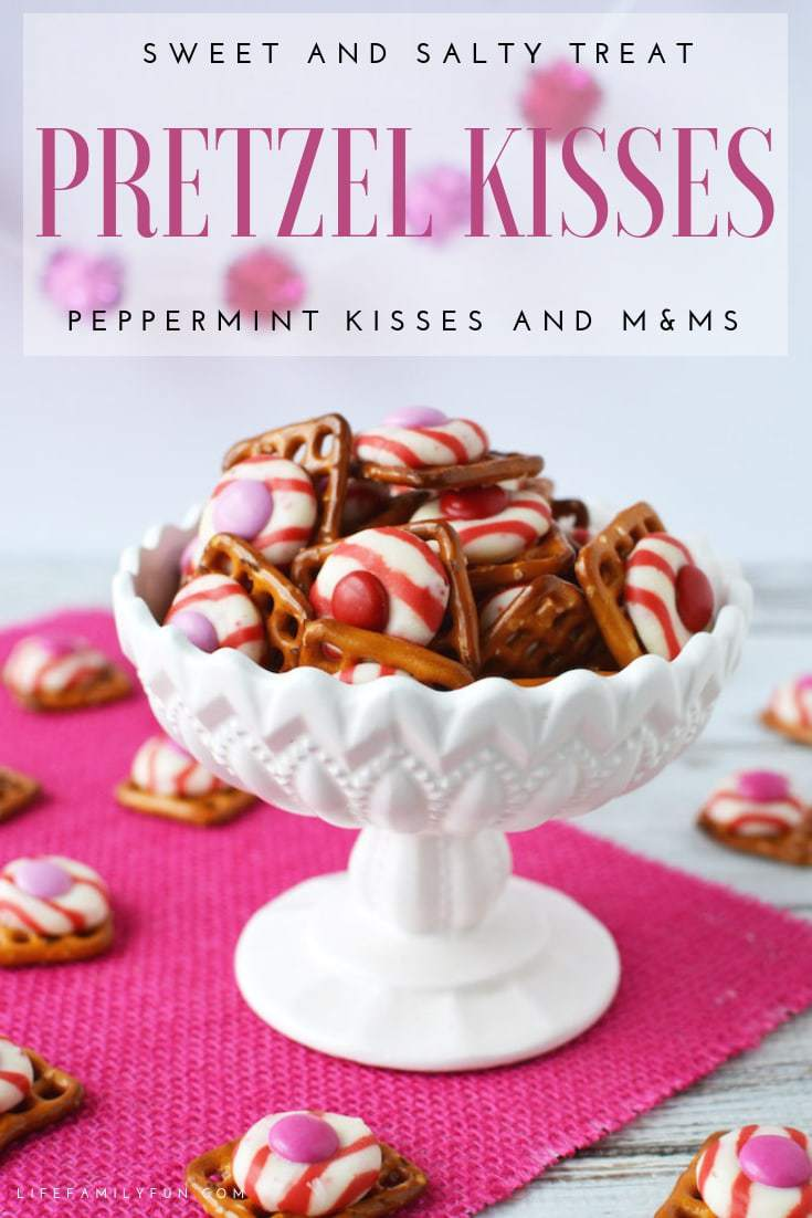 Who doesn't love the texture of crispy and sweet? These M&M Peppermint Pretzel Kisses are a delicious treat to make and share with the ones that you love!