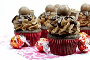 Lindt Chocolate Truffle Cupcakes – Made With Homemade Frosting
