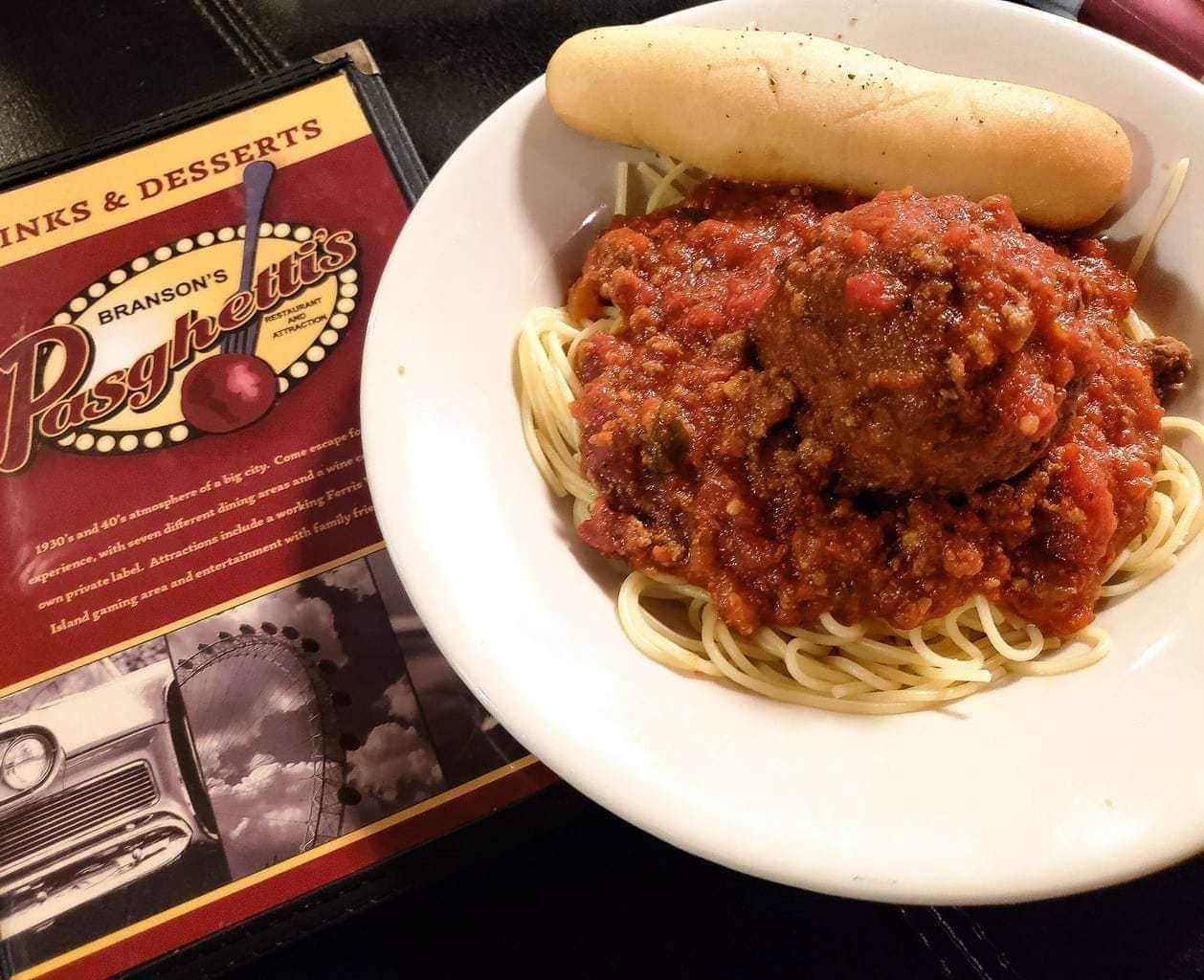 Pasghetti's Menu
