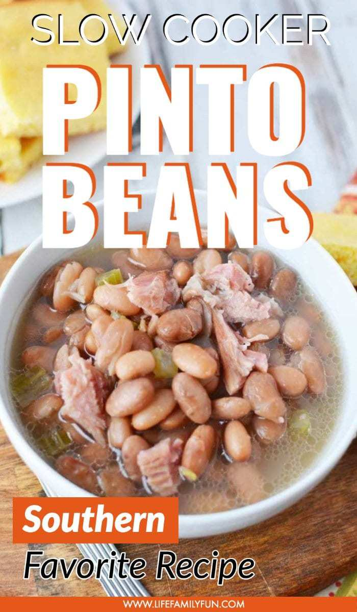Slow Cooker Pinto Beans and Ham Bone