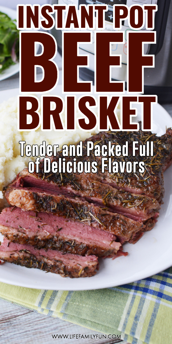 Do you love the incredible flavors of a beef brisket but don't want to mess with hours and hours of grilling or smoking?  A tender, delicious slice of meat that slides right off your fork?  Check out this most amazing Instant Pot Beef Brisket recipe for a faster alternative to a barbeque favorite. #InstantPotBeefBrisket #BeefBrisket #InstantPotRecipes