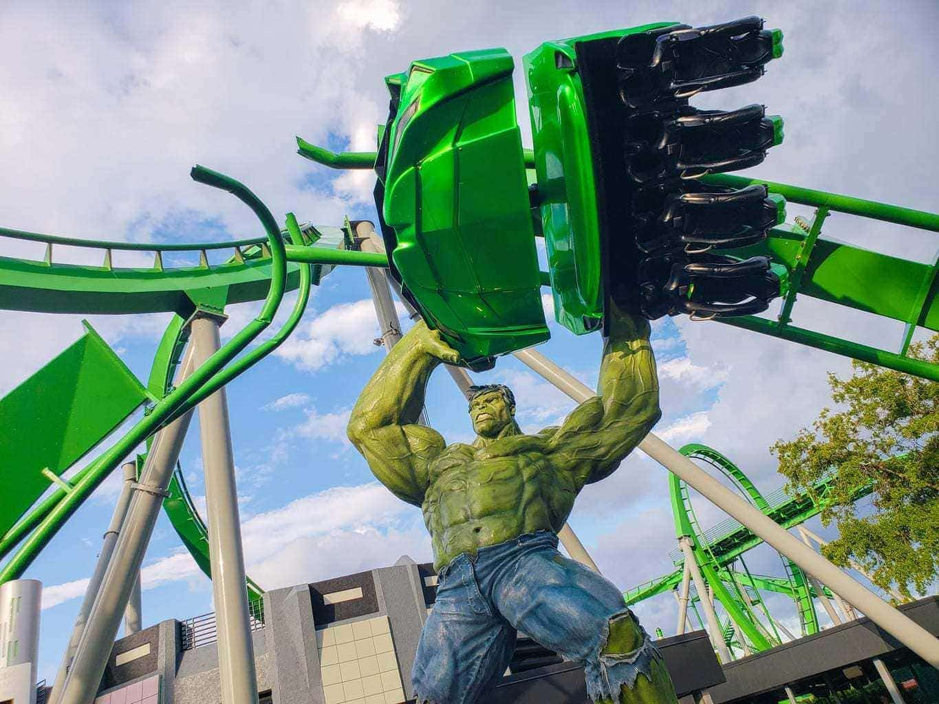The Incredible Hulk Roller Coaster