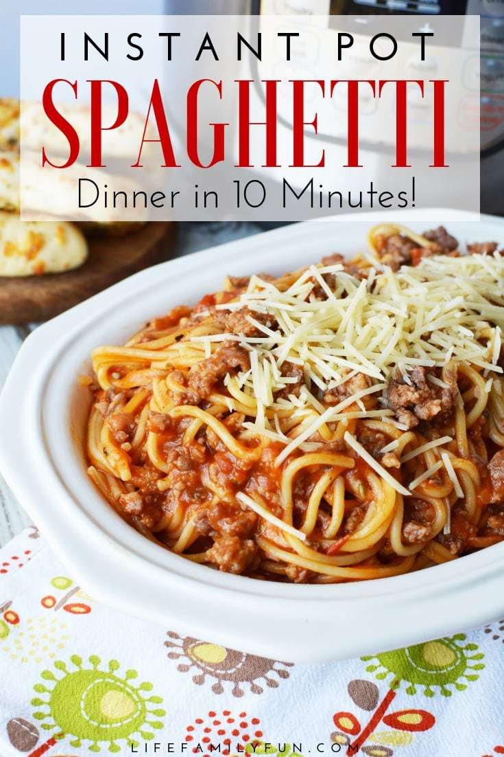 This simple Instant Pot Spaghetti With Italian Sausage recipe not only tastes amazing, it literally takes 10 minutes for everything from start to finish.
