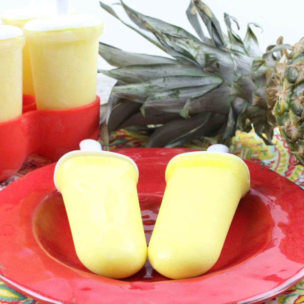 Dole Whip Popsicles With Pineapples