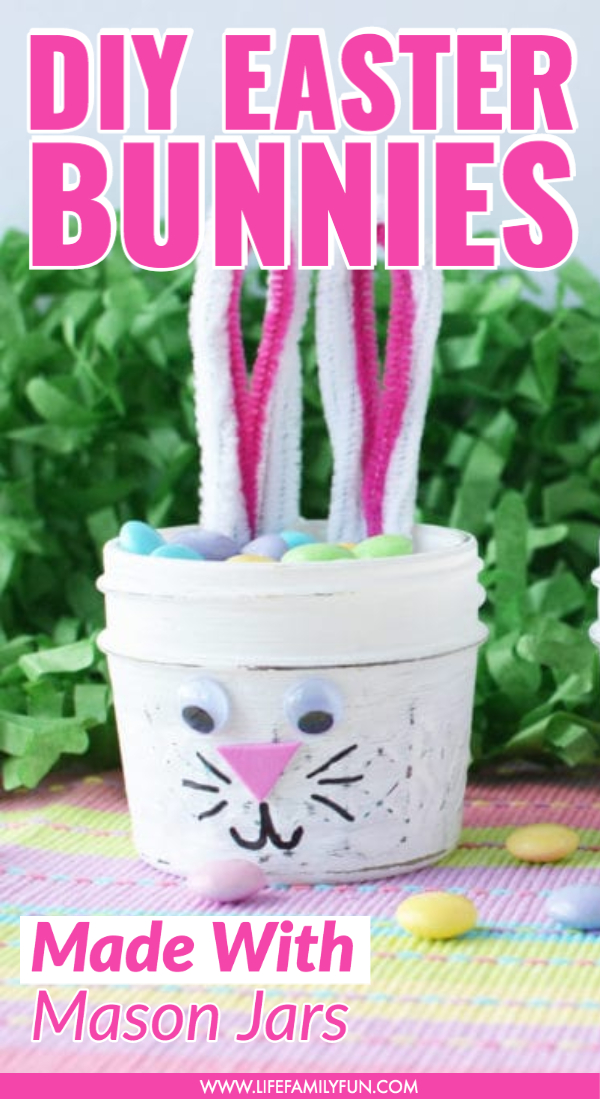 diy easter bunny candy jars
