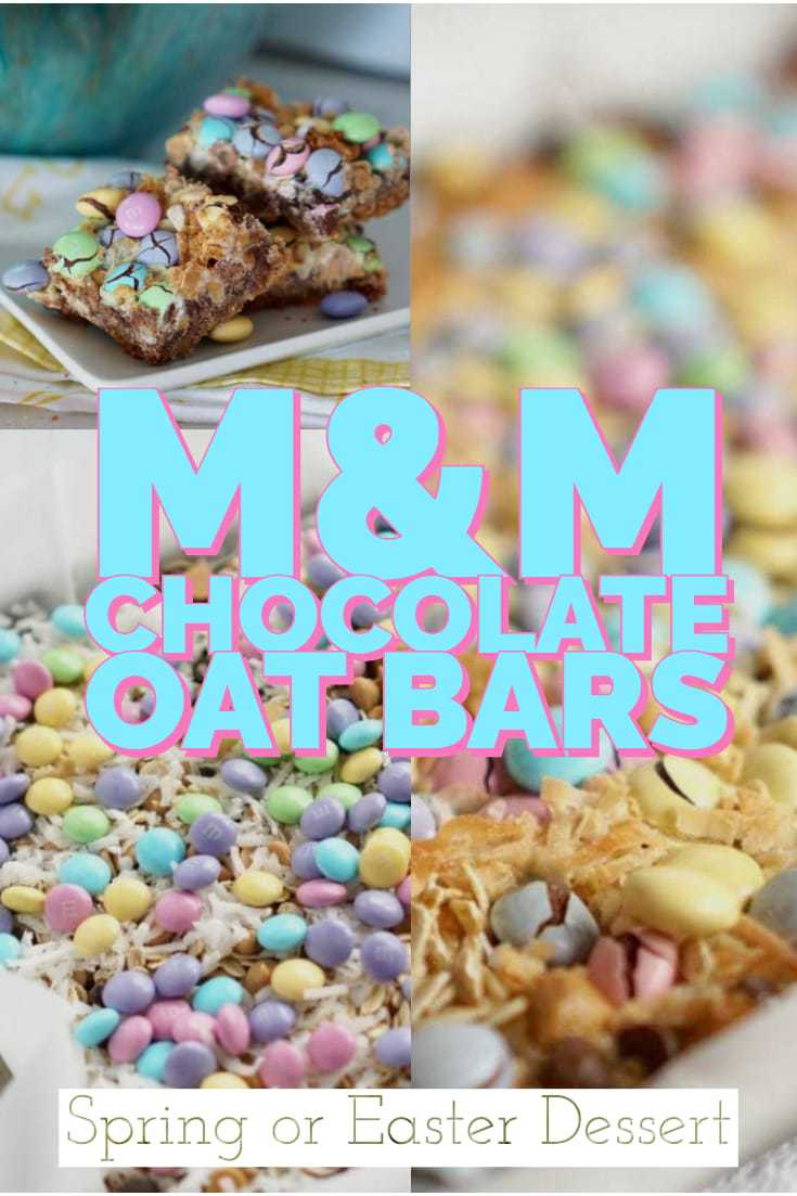 Are you looking for a special treat for your family?  Then these M&M Chocolate Oat Bars are just for you! These bars are sweet, gooey, and delicious. #MMOatBars