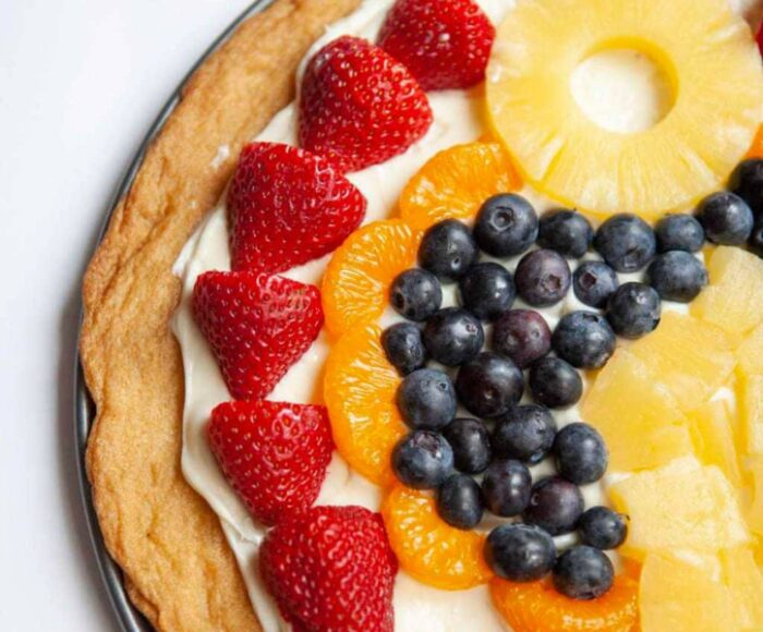 fruit pizza sugar cookie