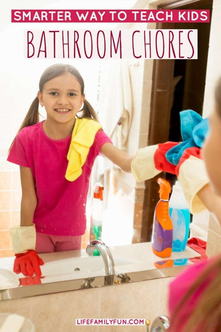 Teaching Kids Bathroom Chores, clean bathrooms