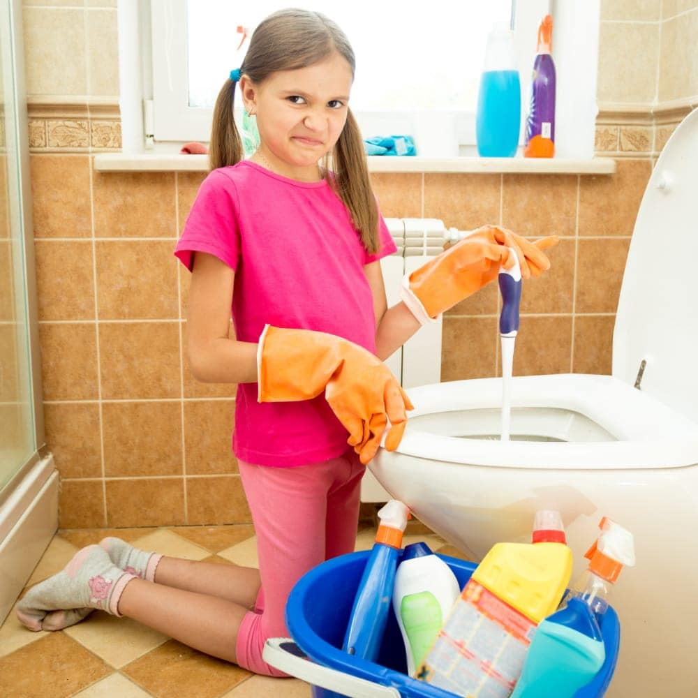 Smarter Ways To Teach Your Kids How To Clean Bathrooms