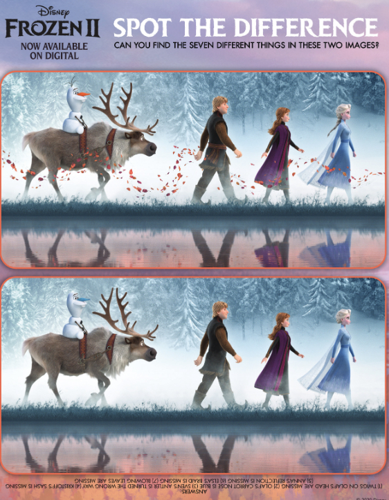 Disney Frozen 2 Activity Sheet