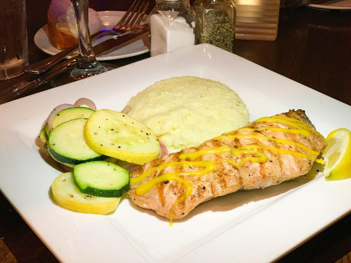 Grilled Atlantic Salmon, Mully's Nacoochee Grill