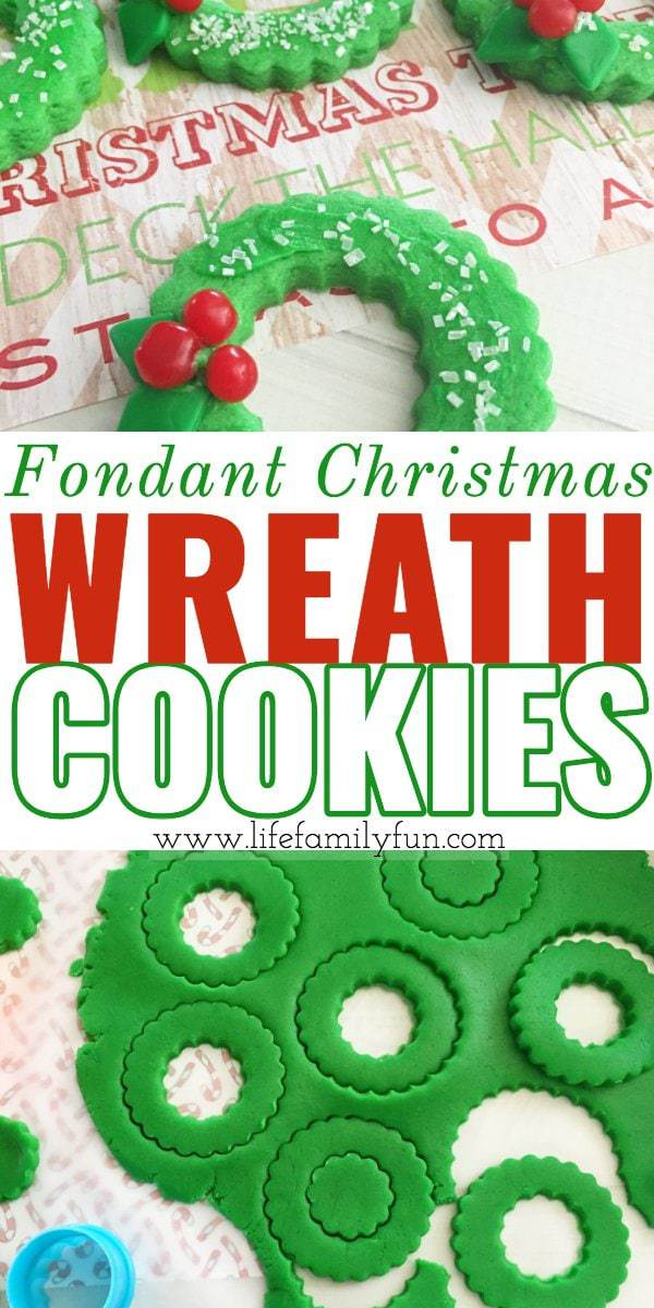 Fondant Christmas Wreath Cookies
