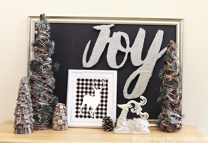 Glittered Joy Sign