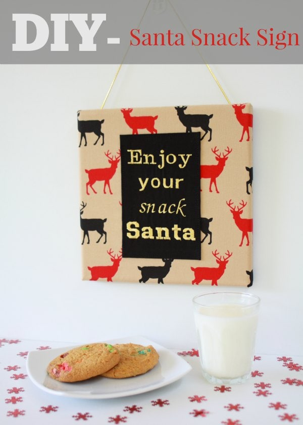 DIY: how to make a Santa Snack sign