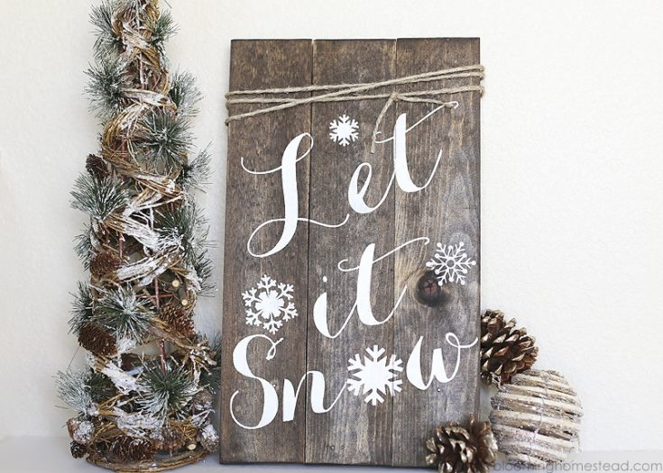 DIY Winter Woodland Sign