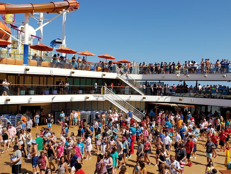 Carnival Breeze Deck Party