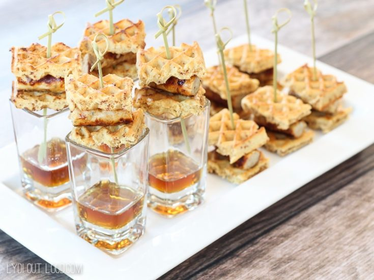 Bite Size Chicken and Waffles Appetizer