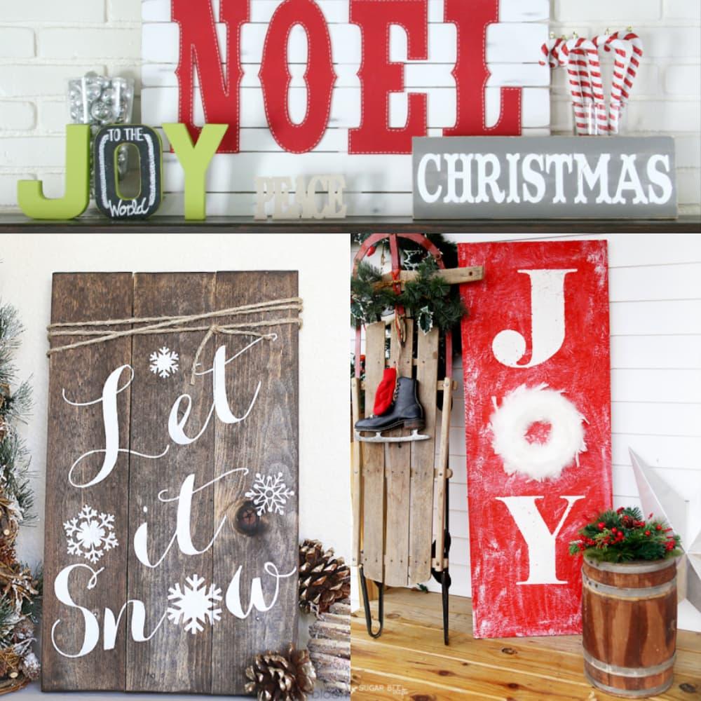 DIY Christmas Signs