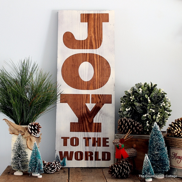 Rustic Wood Sign with Krylon