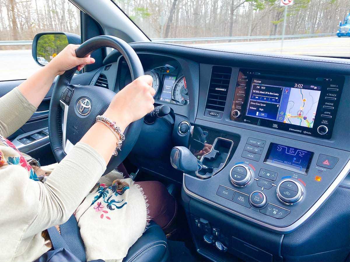 cool mom driving a minivan