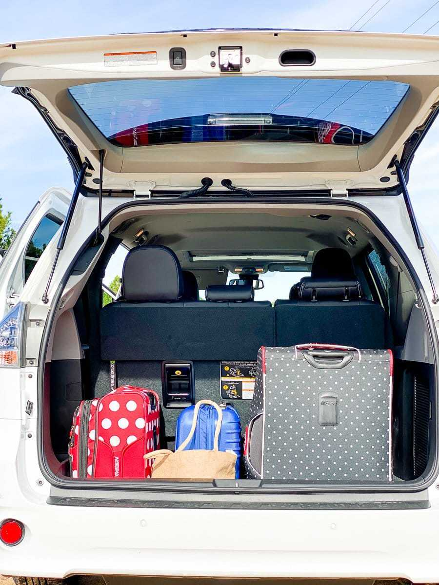 Luggage Space for the Toyota Sienna