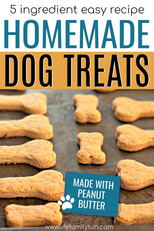 homemade dog treats pin for pinterest