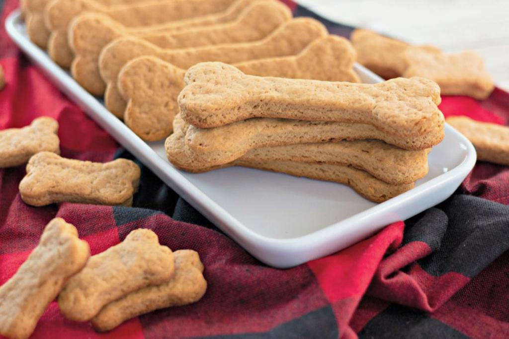 homemade dog treats shaped out of bones