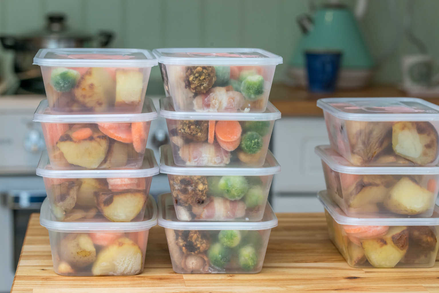 Meal prep with Easy ready meals