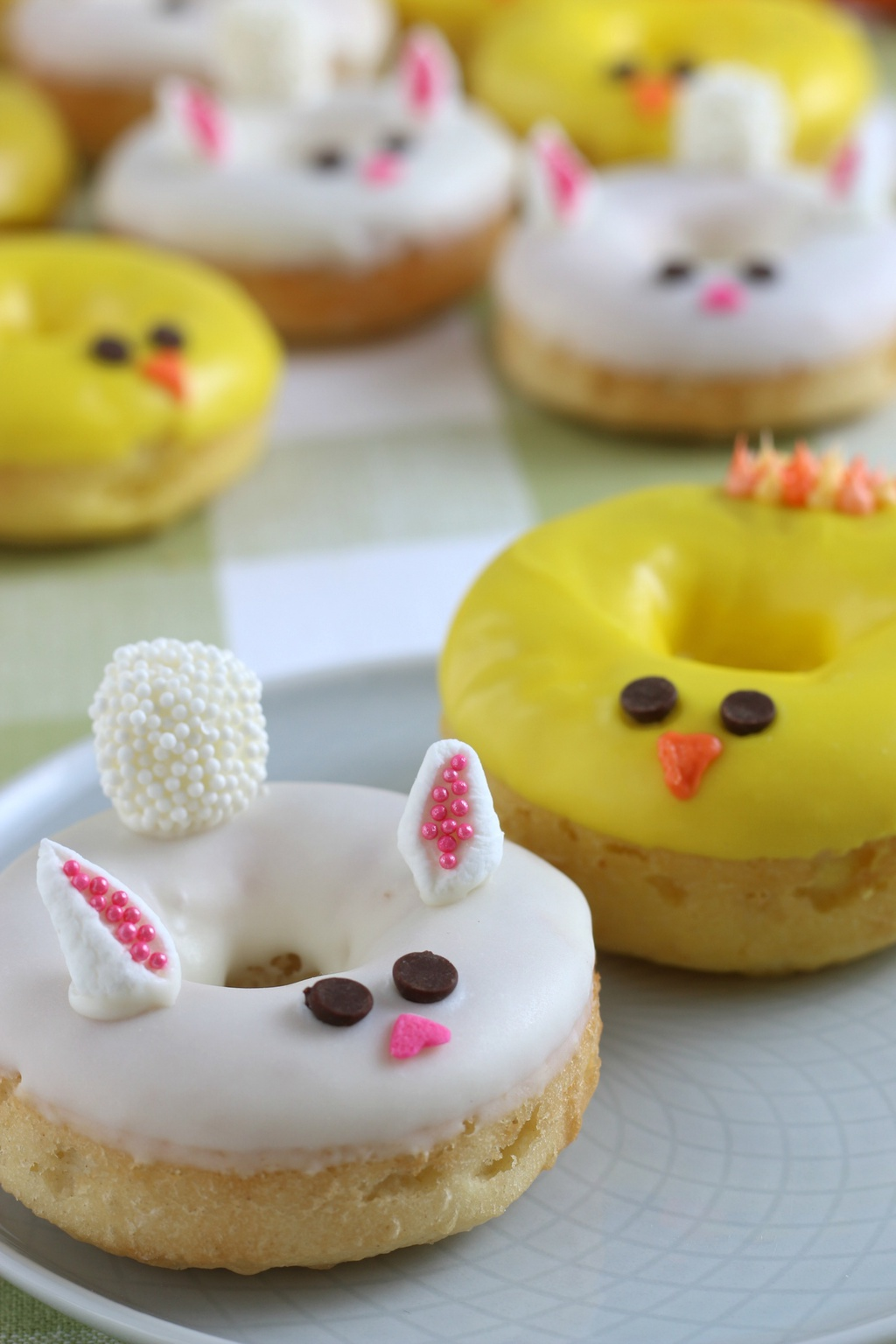 Baked Donuts Recipe, Easter Dessert, Easter Donoughts, Baked Donuts