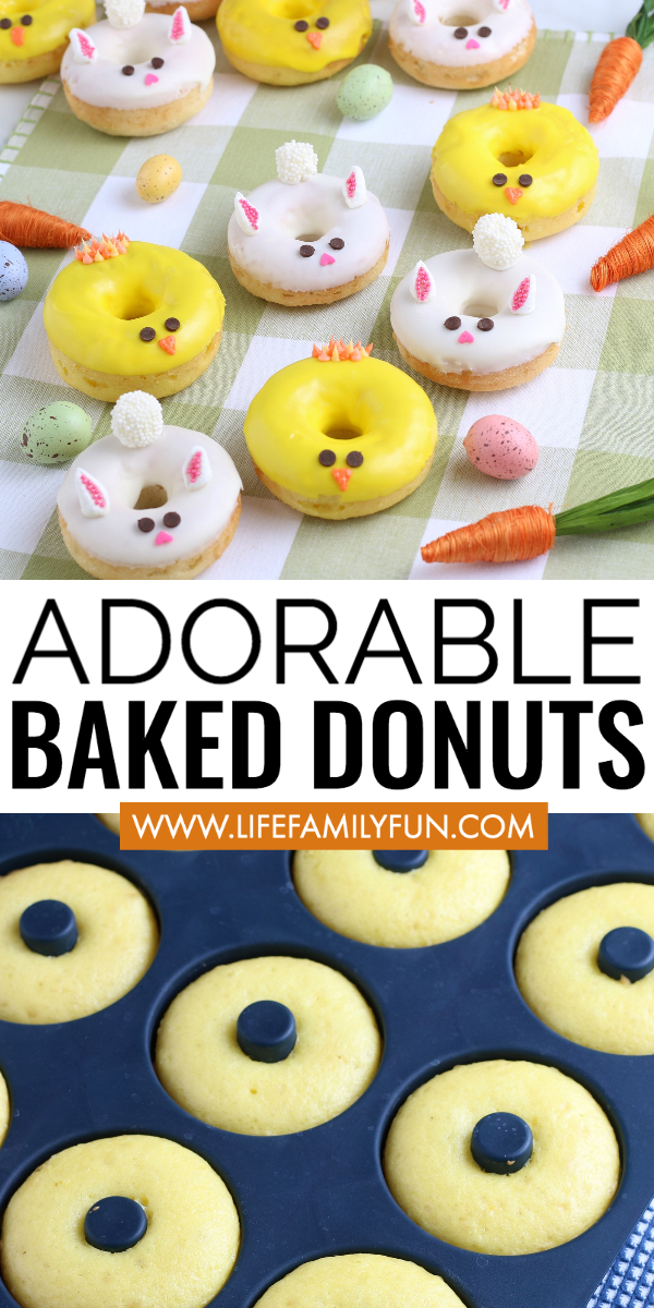 baked donuts, easter donuts, baked donuts recipe