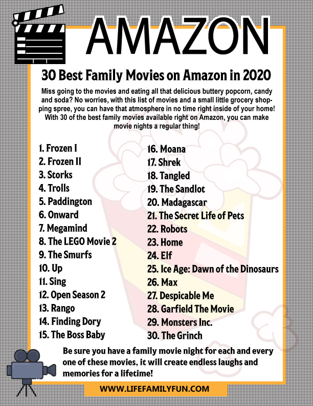 family movies on amazon