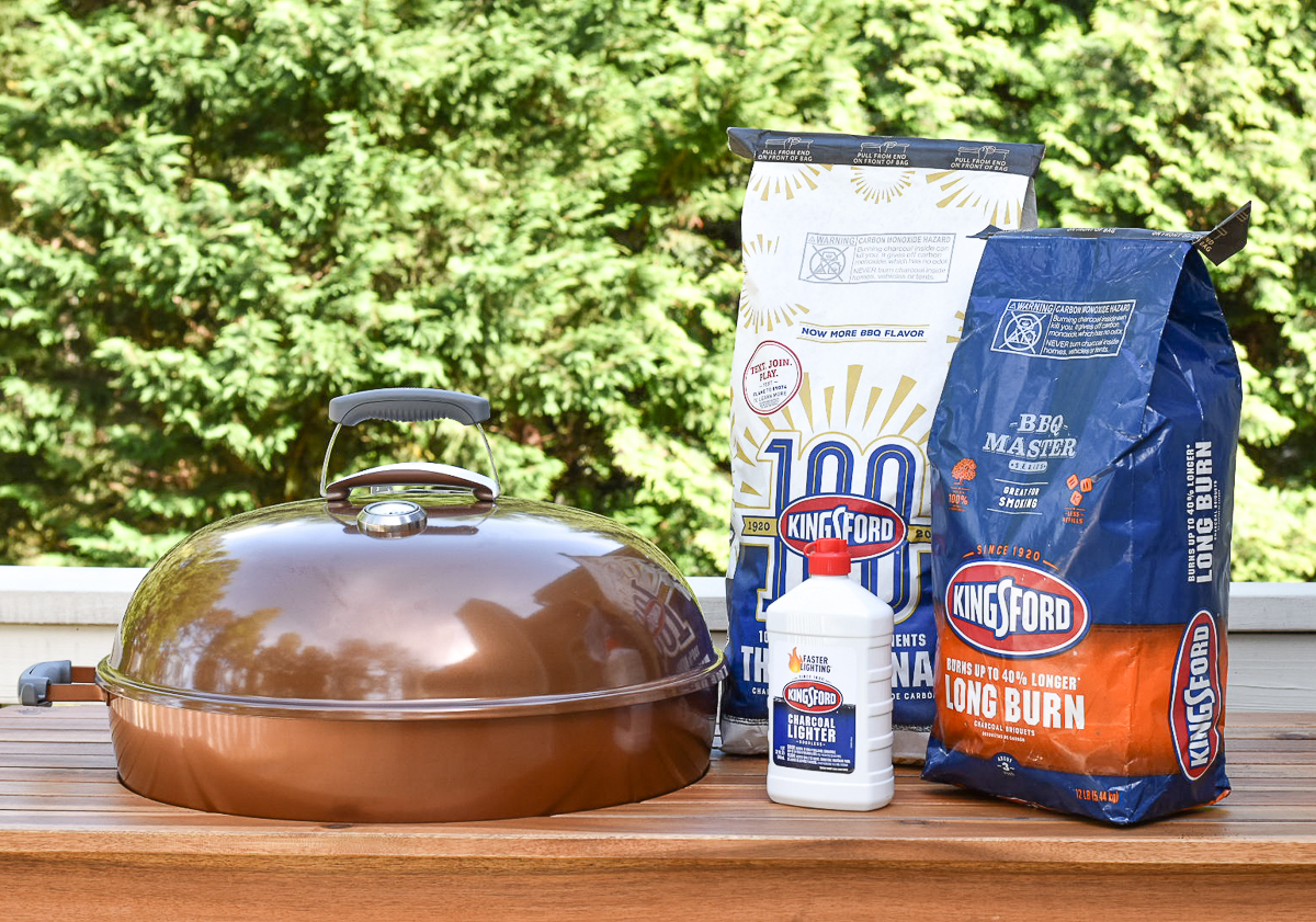 Kingsford charcoal next to grill