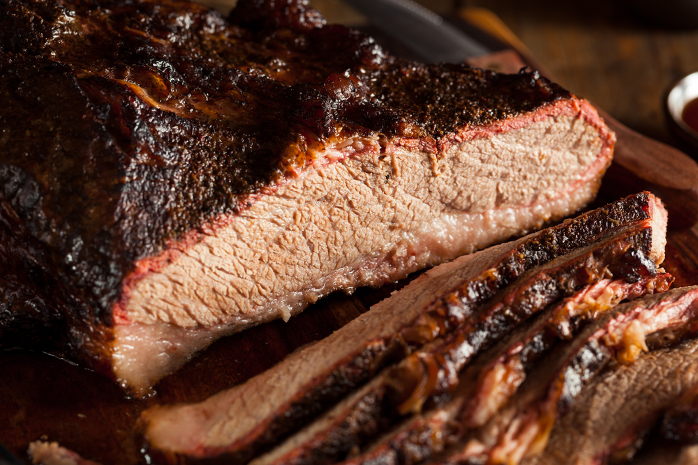 Homemade Smoked BBQ Beef Brisket with Sauce