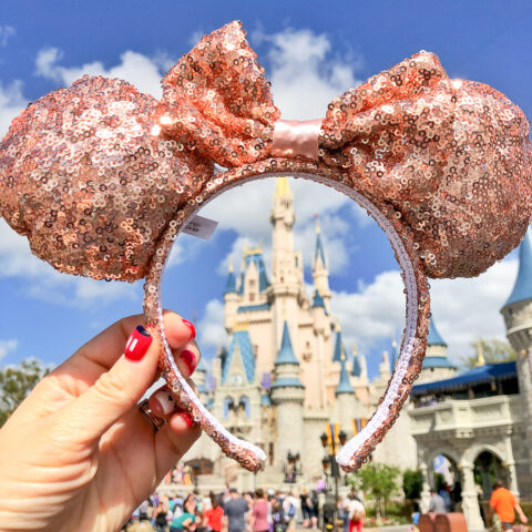 Disney rose gold Ears Headband