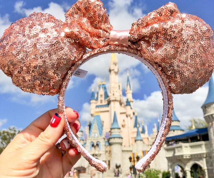 Disney rose gold Ears Headband