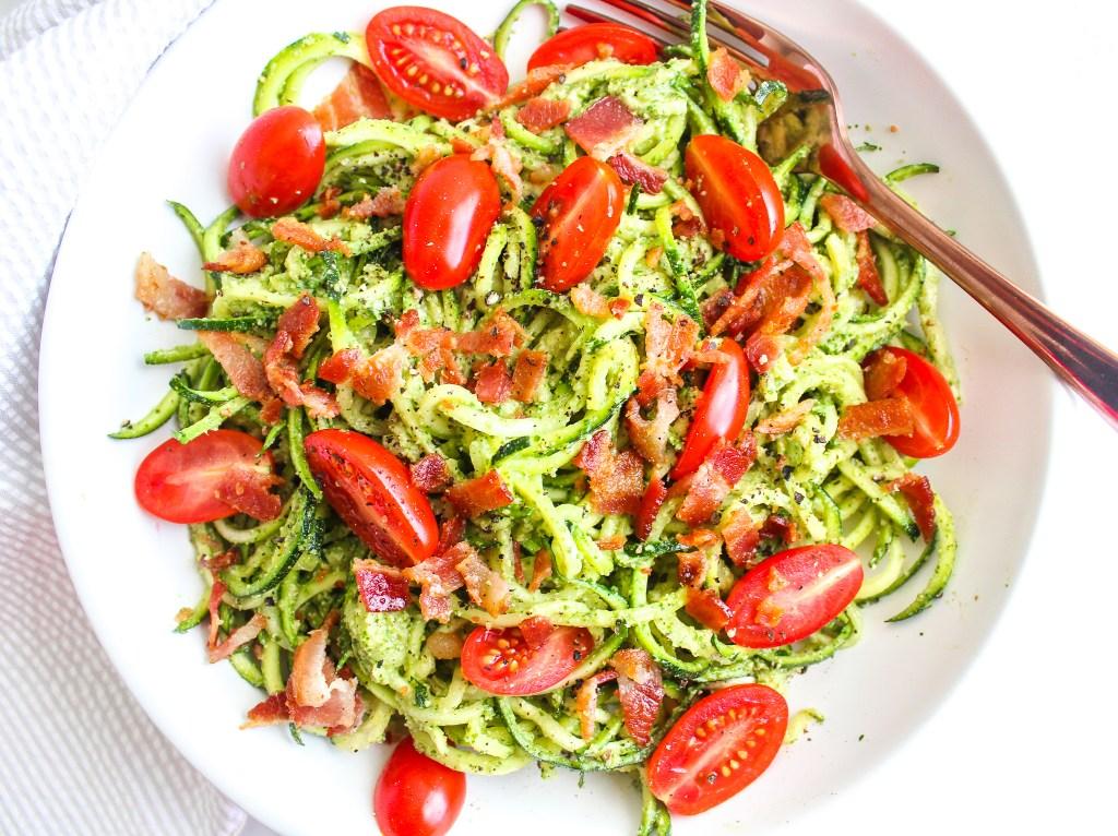 keto pasta BLT Zoodle Salad