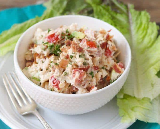 keto chicken salad BLTA Chicken Salad