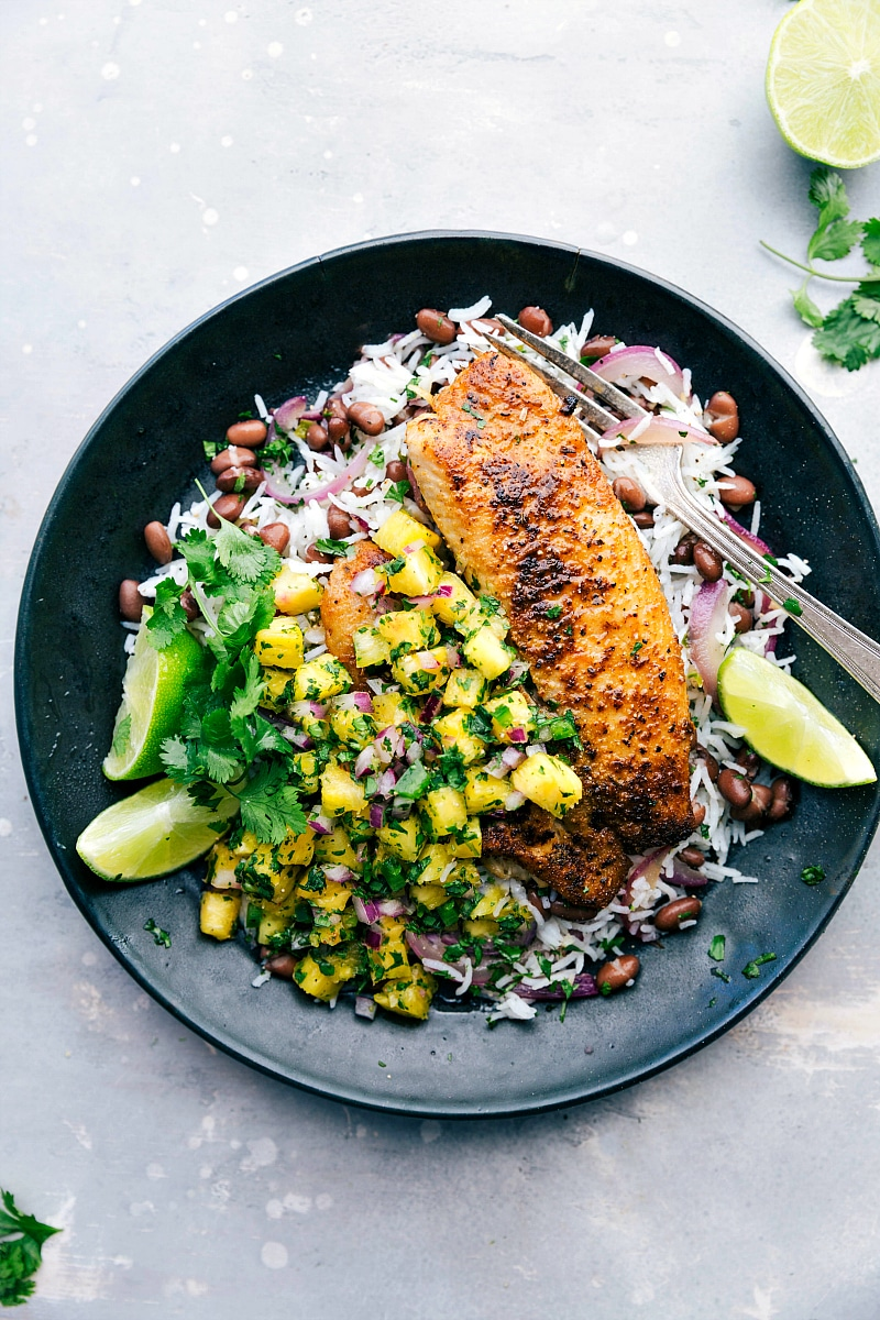 grilled tilapia Blackened Tilapia with Pineapple Salsa