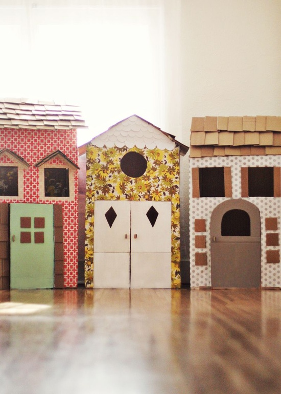 cardboard box house Cardboard House Village