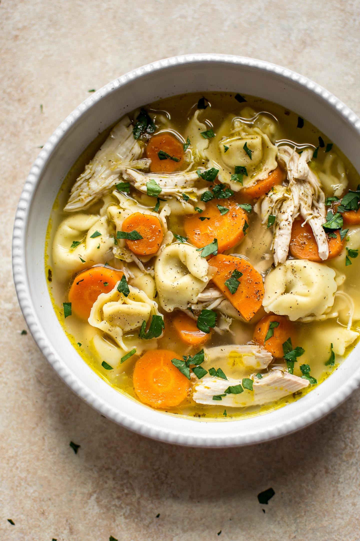 chicken soup Chicken Tortellini Soup