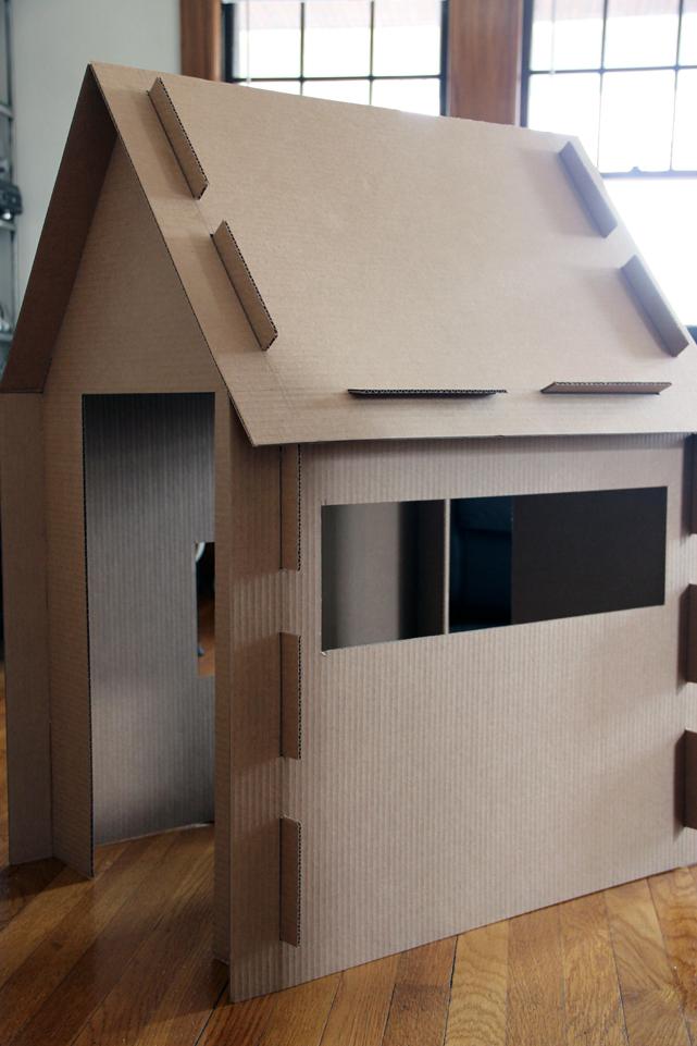 cardboard box house Collapsible Slot Cardboard Box House