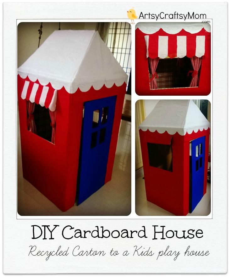 cardboard box house Colorful Upscale Home
