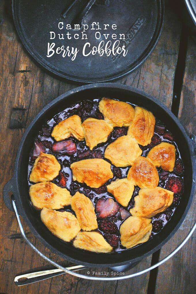 Dutch Oven Berry Cobbler