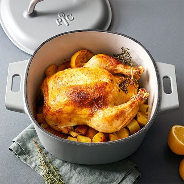 Dutch Oven Whole Roasted Chicken