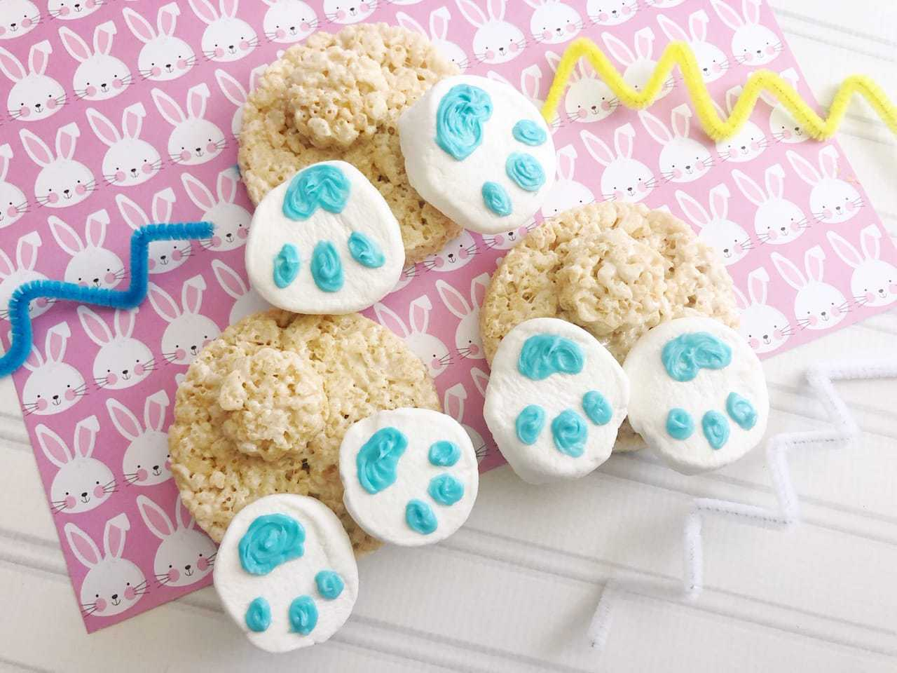 easter bunny butt rice krispie treats